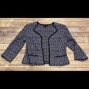 St John Multi Color Tweed Blazer Size 8